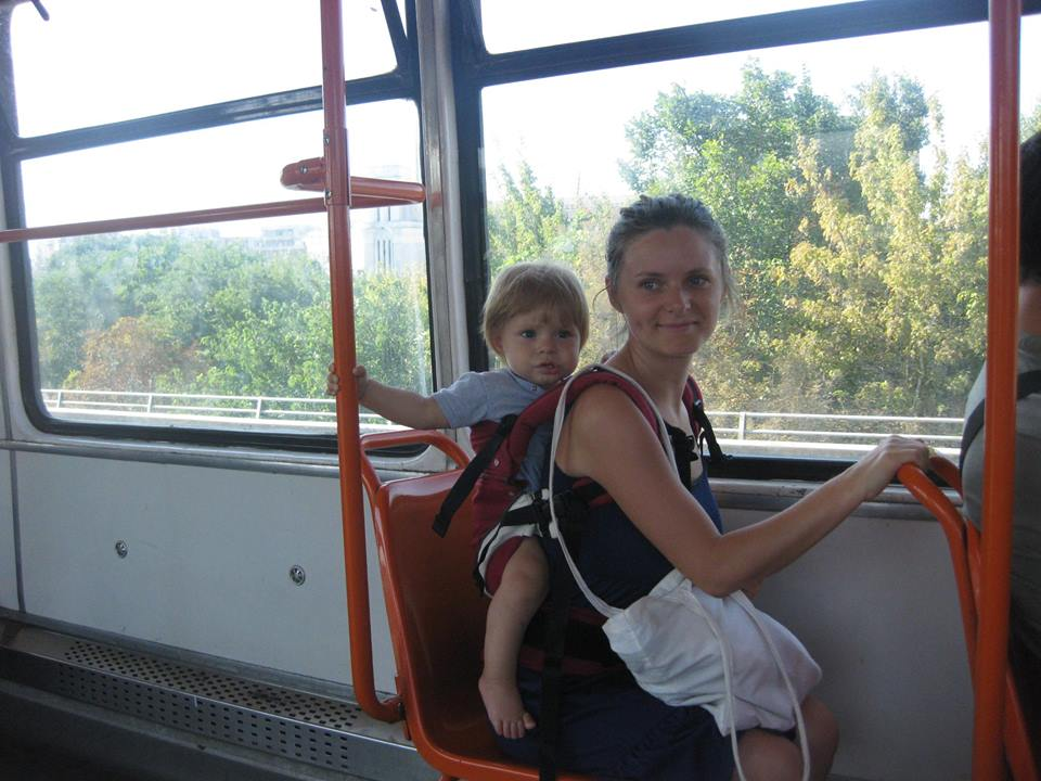prin oras cu tramvaiul